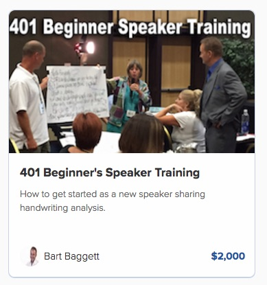 401 Beginner's Speaker training