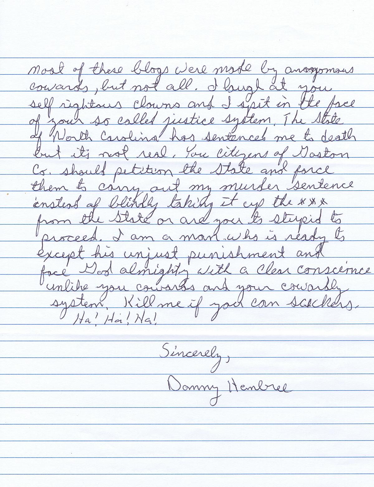 Handwriting analysis samples of a triple murderer sample 1 sample 2 spiritdancerdesigns Images