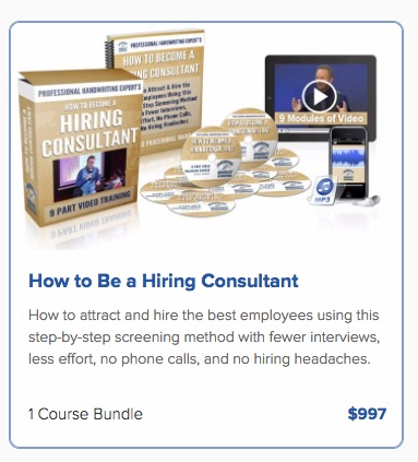 hiring consultant training