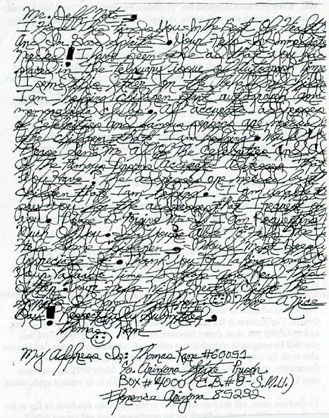 ...so... would you go around with me if I wrote like this man, Thomas Cane, a hardcore criminal? It shows handwriting works, ladies!