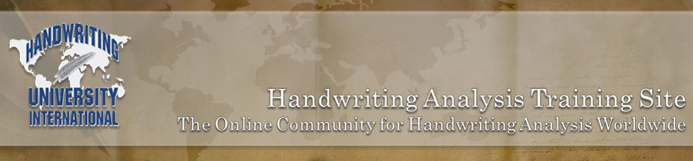 Handwriting University: Learn Handwriting Analysis and Graphology.