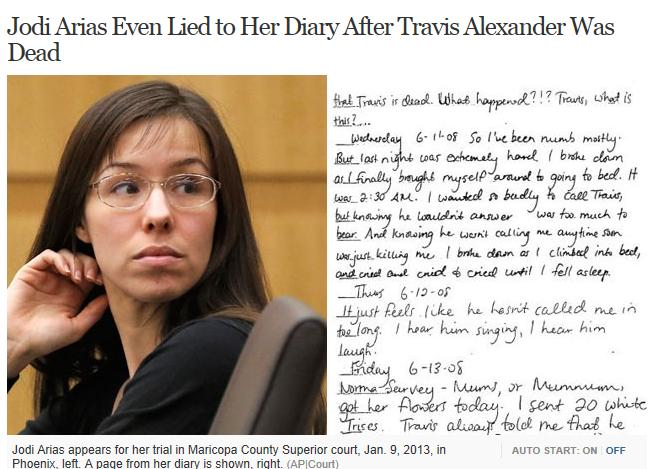 ... analysis… what are your thoughts on Jodi Arias's handwriting