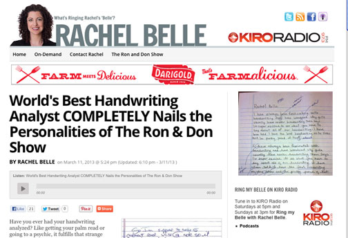 Worlds Best Handwriting Analyst COMPLETELY Nails The Personalities Of Ron Don Show