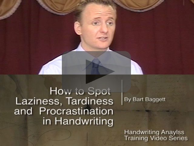 How to Spot Laziness, Tardiness and Procrastination in Handwriting