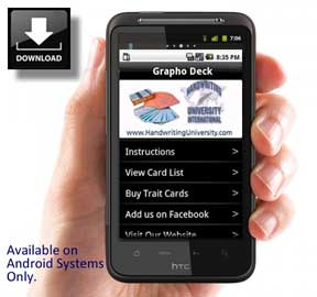 handwriting analysis app in the palm of your hand. Android app: The GraphoDeck