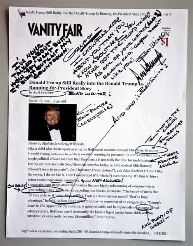 Donald Trump Handwriting Analysis