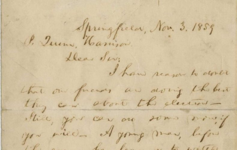 Handwritten letter from Abraham Lincoln for sale