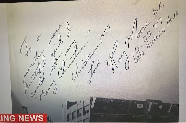 US Senator Roy Moore Accused of Sexual Assualt... here is his handwriting