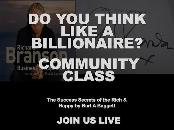 November 2020 Community class Do you Think Like a Billionaire?