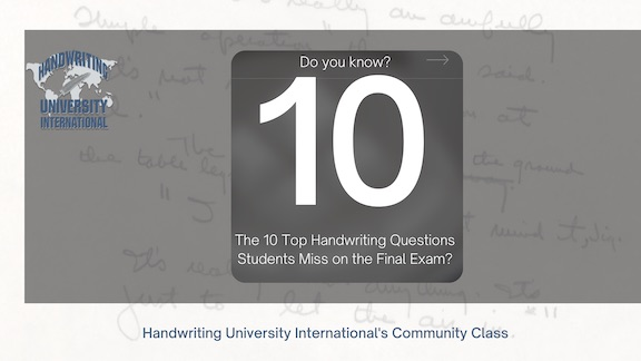 April Handwriting University Community Class